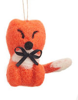 Christmas Street Modern Cabin Felted Baby Fox Hanging Ornament