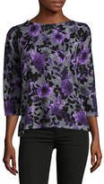 Karen Scott Petite Symphony Three-Quarter Sleeve Top