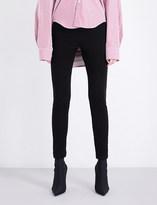 Balenciaga Logo-embroidered skinny mid-rise cotton-blend jogging bottoms