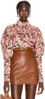 Rotate ROTATE Kim Floral Top in Whitecap Gray | FWRD
