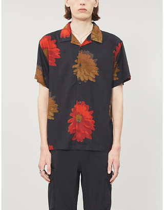 Obey Floral-print camp-collar woven shirt