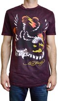 Ed Hardy Men's T Shirt Eagle Lightning 67 Style