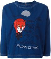 MAISON KITSUNÉ embroidered detail cropped top