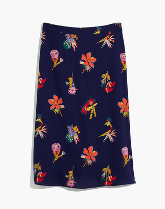 Madewell Atrium Midi Skirt in Bird of Paradise