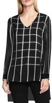 Vince Camuto Women's Duet Stripe V-Neck Blouse