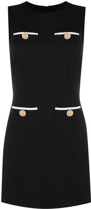 Liu Jo Button-Detail Sleeveless Mini Dress