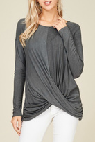 Papermoon Grey Swoop Top