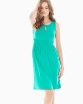 Soma Intimates Sleeveless Keyhole Short Dress Atlantis Jade