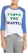 Junk Food Clothing Women's 'Seattle Seahawks' Raglan Graphic Tee