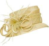 HomArt Women's Kentucky Derby Church Dress Hat Wide Brim Flat Hat