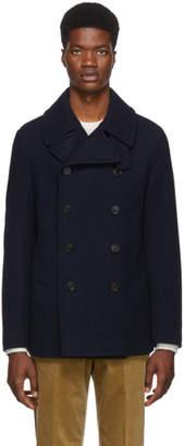 Ralph Lauren Purple Label Navy Wool and Cashmere Peacoat