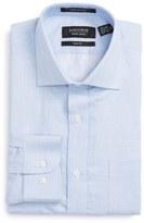 Nordstrom Trim Fit Solid Linen & Cotton Dress Shirt