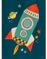 Oopsy Daisy Fine Art For Kids Transportation Rocket by Irene Chan Paper Print