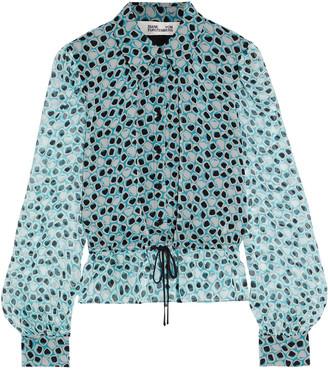 Diane von Furstenberg Pilla Printed Silk-georgette Shirt