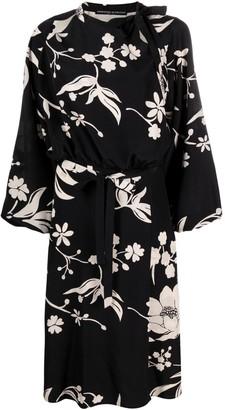Ermanno Scervino Slit Detail Floral Dress