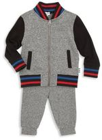 Splendid Baby's Two-Piece Varsity Jacket & Sweatpants Set