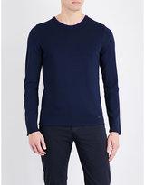 Armani Collezioni Contrast collar knitted jumper