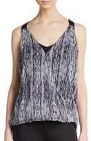 Ella Moss Printed Silk Tank Top