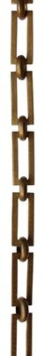 RCH Supply Company Decorative Greek Key Design and Unwelded Links Chain Color: Antique Brass