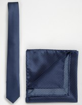 Selected Navy Plain Tie