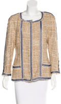 Chanel Lace-Trimmed Tweed Jacket