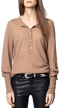 Zadig & Voltaire Button-Up Cashmere Sweater
