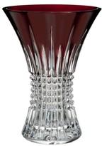 Waterford Lismore Diamond Red Lead Crystal Vase