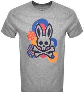 Psycho Bunny Dover Logo T Shirt Grey
