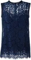 Dolce & Gabbana sleeveless lace blouse - women - Silk/Cotton/Polyamide/Viscose - 38