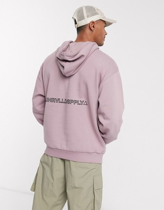 ASOS Unrvlld Supply oversized hoodie with back print