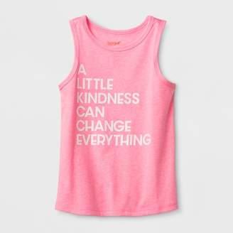 Cat & Jack Toddler Girls' Adaptive Kindness Graphic Tank Top Pink