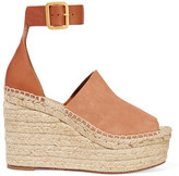 Chloé Suede And Leather Espadrille Wedge Sandals - Tan