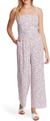 1 STATE Wildflower Vines Tie Back Floral Jumpsuit