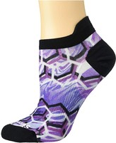 Smartwool PhD(r) Run Ultra Light Hex Print Micro (Purple Mist) Women's Crew Cut Socks Shoes