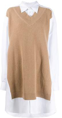 Maison Margiela knitted panel shirt dress