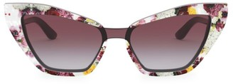 Dolce & Gabbana 29MM Floral Cat Eye Sunglasses