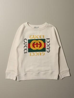 Gucci Cotton Jersey Sweatshirt With Vintage Print