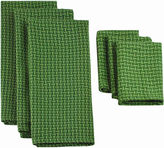 JCPenney Solid Set of 6 Dish Towels and Dish Cloths