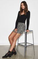 KENDALL + KYLIE Kendall & Kylie Leopard Mini Skirt