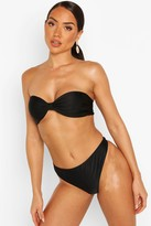 Boohoo Zante Gathered Thong Bikini Brief