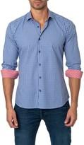 Jared Lang Mini Check Long Sleeve Semi-Fitted Shirt