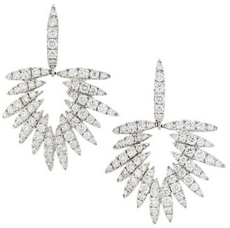 Hueb Apus 18K White Gold & Diamond Drop Earrings
