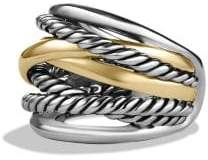 David Yurman Crossover Wide Ring With 14K Gold