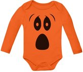 TeeStars Baby Halloween Ghost Costume Outfit Cute Infant Bodysuit Baby Long Sleeve Onesie 18M
