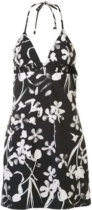 Chanel Pre Owned 2004 Floral Halterneck Swimsuit Dress