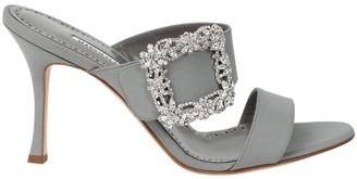 Manolo Blahnik Gable Sandals Grey