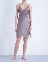 Carine Gilson Butterfly silk-satin and lace chemise