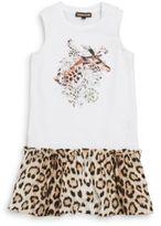Roberto Cavalli Girl's Giraffe Dropped Waist Dress