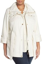 Ellen Tracy Plus Size Women's Short Techno Trench Coat