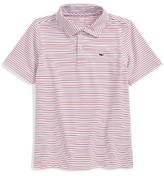 Vineyard Vines Toddler Boy's Stripe Performance Polo